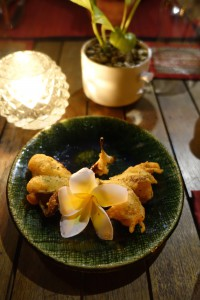 Fried Frangipani Flowers