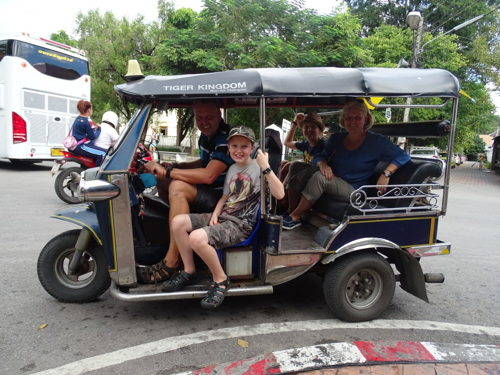A new job for Ben - tuk tuk driver?